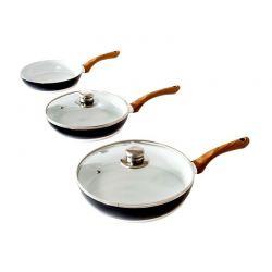 Σετ Τηγάνια Cecotec από Τιτάνιο με 2 Γυάλινα καπάκια CEC-01006+01007