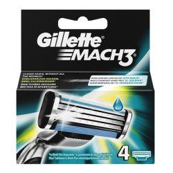 Ανταλλακτικές Κεφαλές Gillette Mach3 4 Τεμάχια GILMACH3