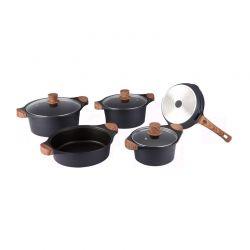 Σετ μαγειρικών σκευών Royalty Line 8 τμχ χρώματος μαύρο RL-WS1008M