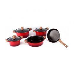 Σετ μαγειρικών σκευών Royalty Line 8 τμχ χρώματος κόκκινο RL-WS1008M