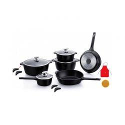 Σετ μαγειρικών σκευών Royalty Line 16 τμχ χρώματος μαύρο RL SS1016