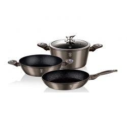 Σετ μαγειρικών σκευών Berlinger Haus 4τμχ carbon metallic line BH-1277