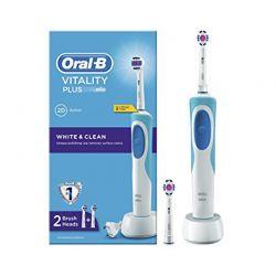 Ηλεκτική οδοντόβουρτσα Oral-B vitality plus white & clean επαναφορτιζόμενη OralB-Plus White Clean