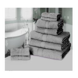 Σετ με 9 πετσέτες General από 100% premium αιγυπτιακό βαμβάκι χρώματος γκρι ανοιχτό 9TOWEL