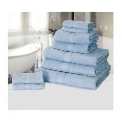 Σετ με 9 πετσέτες General από 100% premium αιγυπτιακό βαμβάκι χρώματος μπλε 9TOWEL