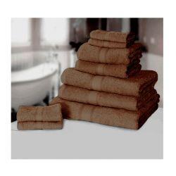 Σετ με 9 πετσέτες General από 100% premium αιγυπτιακό βαμβάκι χρώματος καφέ 9TOWEL