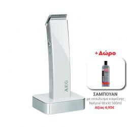 Κουρευτική - Ξυριστική Μηχανή AEG Χρώματος Λευκό HSM5638