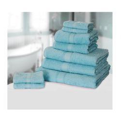 Σετ με 9 πετσέτες General από 100% premium αιγυπτιακό βαμβάκι χρώματος μπλε ανοιχτό 9TOWEL