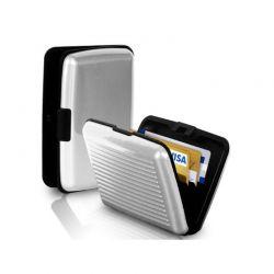 Ανθεκτικό πορτοφόλι αλουμινίου με RFID προστασία ασφαλείας χρώματος ασημί