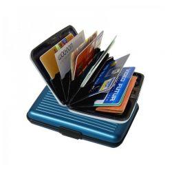 Ανθεκτικό πορτοφόλι αλουμινίου με RFID προστασία ασφαλείας χρώματος μπλε