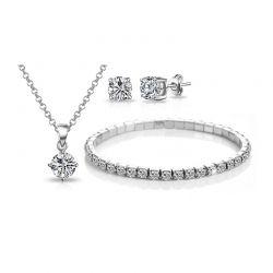 Σετ Κοσμήματα Philip Jones με Κρύσταλλα Swarovski® 3 τμχ