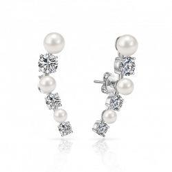 Σκουλαρίκια Philip Jones με Πέρλες και Κρύσταλλα Swarovski®