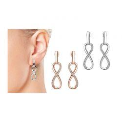 Σκουλαρίκια Infinity Philip Jones με Κρύσταλλα Swarovski®