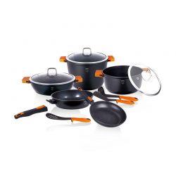 Σετ μαγειρικών σκευών Berlinger Haus 11 τμχ χρώματος μαύρο BH-1117