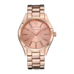 Γυναικείο Ρολόι Χρώματος Ροζ-Χρυσό με Μεταλλικό Μπρασελέ και Κρύσταλλα Swarovski® Timothy Stone C-011-ALRG