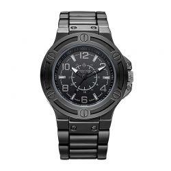 Ανδρικό Ρολόι Χρώματος Μαύρο με Μεταλλικό Μπρασελέ Timothy Stone M-011-ALBK