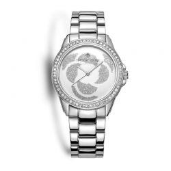 Γυναικείο Ρολόι Χρώματος Γκρι με Μεταλλικό Μπρασελέ και Κρύσταλλα Swarovski® Timothy Stone K-013-ALSL