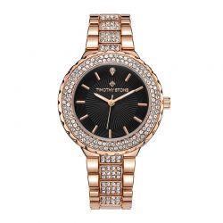 Γυναικείο Ρολόι Χρώματος Ροζ-Χρυσό με Μεταλλικό Μπρασελέ και Κρύσταλλα Swarovski® Timothy Stone G-014-ALRGBK