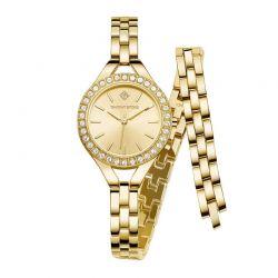 Γυναικείο Ρολόι Χρώματος Χρυσό με Μεταλλικό Μπρασελέ και Κρύσταλλα Swarovski® Timothy Stone J-012-ALWGD