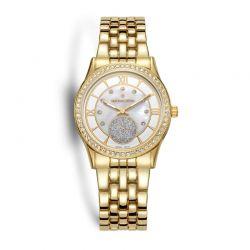 Γυναικείο Ρολόι Χρώματος Χρυσό με Μεταλλικό Μπρασελέ και Κρύσταλλα Swarovski® Timothy Stone H-012-ALGD
