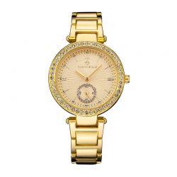 Γυναικείο Ρολόι Χρώματος Χρυσό με Μεταλλικό Μπρασελέ και Κρύσταλλα Swarovski® Timothy Stone E-012-ALGD