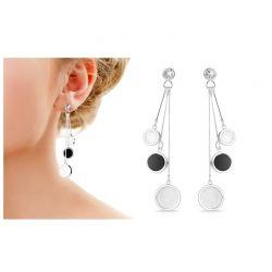 Σκουλαρίκια Philip Jones με Όνυχα και Πέρλες Διακοσμημένα με Κρύσταλλα Swarovski®