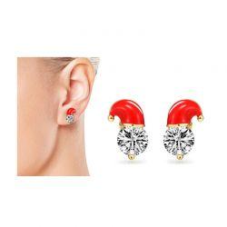 Σκουλαρίκια Χριστουγεννιάτικα Philip Jones με Κρύσταλλα Swarovski®