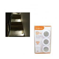 Ασύρματες LED Λάμπες 3 τμχ Kingavon BB-RT210