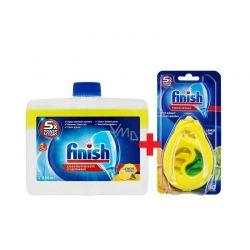 Καθαριστικό Πλυντηρίου Finish 250ml & Αρωματικό Πλυντηρίου Πιάτων Λεμόνι & Lime 60mez