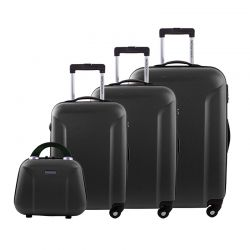 Σετ 4 Βαλίτσες Χρώματος Μαύρο Siesta Design Cosmo SDS3ABSCOSMBLA