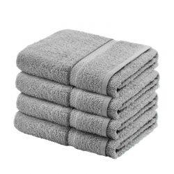 Σετ με 4 πετσέτες σώματος Dickens από 100% luxury αιγυπτιακό βαμβάκι χρώματος γκρι DBATHS-4GREY