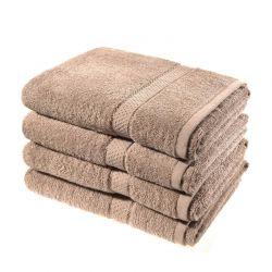 Σετ με 4 Πετσέτες Σώματος Dickens από 100% Luxury Αιγυπτιακό Βαμβάκι Χρώματος Καφέ Ανοιχτό DBATHS-4MINK