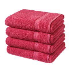 Σετ με 4 Πετσέτες Σώματος Dickens από 100% Luxury Αιγυπτιακό Βαμβάκι Χρώματος Κόκκινο DBATHS-4RED