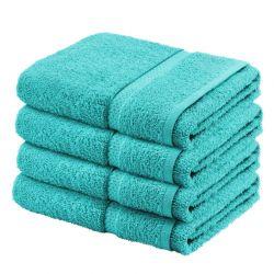 Σετ με 4 πετσέτες General από 100% luxury αιγυπτιακό βαμβάκι χρώματος μπλε DBATHS-4AQUA