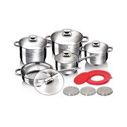 Σετ Μαγειρικών Σκευών από Ανοξείδωτο Ατσάλι 15 τμχ Blaumann Gourmet Line BL-3356