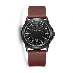 Ανδρικό Ρολόι με Καφέ Δερμάτινο Λουράκι Timothy Stone N-014-BKBR