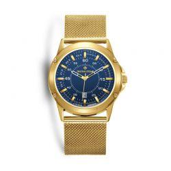 Ανδρικό Ρολόι Χρώματος Χρυσό με Μεταλλικό Μπρασελέ Timothy Stone N-013-ALMGD