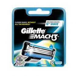 Ανταλλακτικές Κεφαλές Gillette Mach3 8 Τεμάχια GILMACH3x8