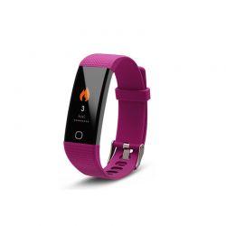 Ρολόι Fitness Tracker Aquarius AQ125 με Έγχρωμη Οθόνη και Μετρητή Καρδιακών Παλμών Χρώματος Μωβ R161612