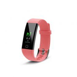 Ρολόι Fitness Tracker Aquarius AQ125 με Έγχρωμη Οθόνη και Μετρητή Καρδιακών Παλμών Χρώματος Ροζ R161613