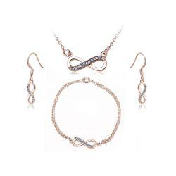 Σετ Κοσμήματα Timothy Stone 4 τμχ Χρώματος Ροζ - Χρυσό με Κρύσταλλα Swarovski® Sapphire