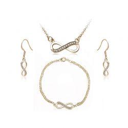Σετ Κοσμήματα Timothy Stone 4 τμχ Χρώματος Χρυσό με Κρύσταλλα Swarovski® Blanc