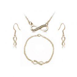 Σετ Κοσμήματα Timothy Stone 4 τμχ Χρώματος Χρυσό με Κρύσταλλα Swarovski® Jaune