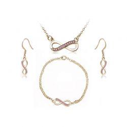 Σετ Κοσμήματα Timothy Stone 4 τμχ Χρώματος Χρυσό με Κρύσταλλα Swarovski® Rose