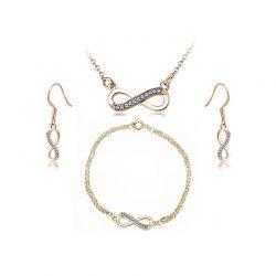 Σετ Κοσμήματα Timothy Stone 4 τμχ Χρώματος Χρυσό με Κρύσταλλα Swarovski® Sapphire
