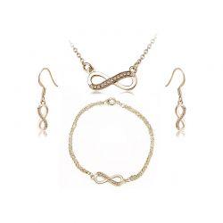 Σετ Κοσμήματα Timothy Stone 4 τμχ Χρώματος Χρυσό με Κρύσταλλα Swarovski® Topaz