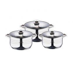 Σετ Μαγειρικών Σκευών από Ανοξείδωτο Ατσάλι 6 τμχ Gourmet Line Blaumann BL-3160