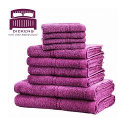 Σετ με 10 Πετσέτες Dickens από 100% Αιγυπτιακό Βαμβάκι Χρώματος Μωβ DTOWEL-10PLU