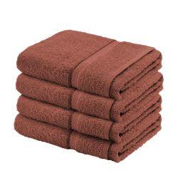 Σετ με 4 Πετσέτες Σώματος Dickens από 100% Luxury Αιγυπτιακό Βαμβάκι Χρώματος Καφέ DBATHS-4CHO
