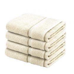 Σετ με 4 Πετσέτες Σώματος Dickens από 100% Luxury Αιγυπτιακό Βαμβάκι Χρώματος Μπεζ DBATHS-4CRM